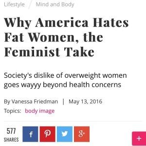 WhyAmericaHatesFatWomen