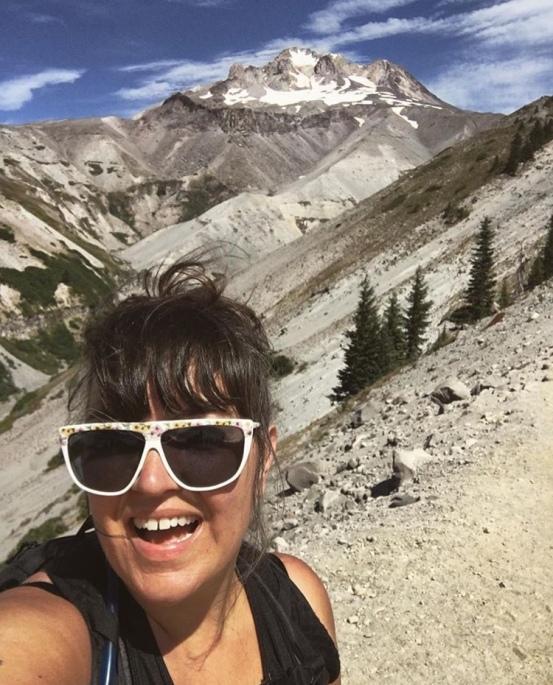 August - hiking on Mt. Hood
