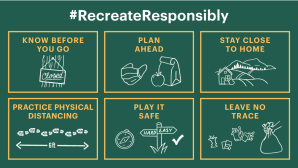 Simplified Graphic of Recreate Responsibly Guidelines